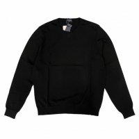 Drumohr 【ドルモア】 30Gハイゲージコットン・クルーネック・プルオーバー (Black)