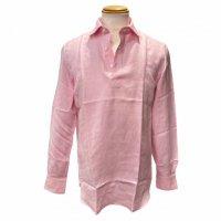 CORDONE 1956【コルドネ1956】 リネン・ワイドスプレットカラー・プルオーバー (Pink)