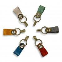 """Felisi 【フェリージ】 """"Key Ring"""" エンボスレザー・キーリング (全6色)"""