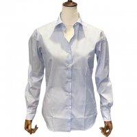 Agnelli & Sons 【アニエッリ・アンド・サンズ】 Albini社製コットン・ストライプシャツ (Light Blue Stripe)