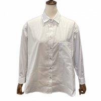 BARBA 【バルバ】 ストレッチコットン2WAYシャツ (White)