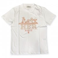 """AWESOME 【オーサム】 『This is Art not Fake』 """"HER""""プリント・TEEシャツ(White-Stampa38)"""
