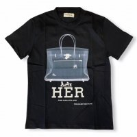 """AWESOME 【オーサム】 『This is Art not Fake』 """"HER""""プリント・TEEシャツ(Black-Stampa70)"""