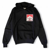 """AWESOME 【オーサム】 『This is Art not Fake』 """"HOOD"""" 左胸プリント・フーディー(Black-Stampa48)"""
