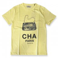 """AWESOME 【オーサム】 『This is Art not Fake』 """"CHA"""" プリント・TEEシャツ(Giallo-Stampa47)"""