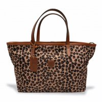 "Felisi 【フェリージ】 ""Tote Bag"" ナイロン×バケッタレザー・トートバッグ (Leopard)"