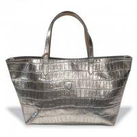 "Felisi 【フェリージ】 ""Hand Bag"" エンボスレザー・トートバッグ (Silver)"