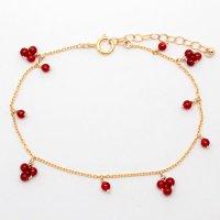 BHN 1188<br>赤い小花のブレスレット
