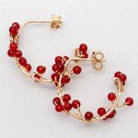PTN 1176<br>赤い小花のピアス