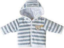 シュタイフ ベビー服 フード付きジャケット グレー/ピンクEAN0002857