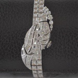 ハミルトン カバーウオッチ ダイヤモンド アーモンド型 レディースアンティーク