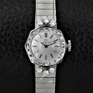 オメガ ベルト一体型 14金・ダイヤモンド レディースアンティーク