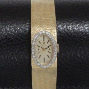 アンティーク オメガ 14金ダイヤ ベルト一体型 レディースアンティーク