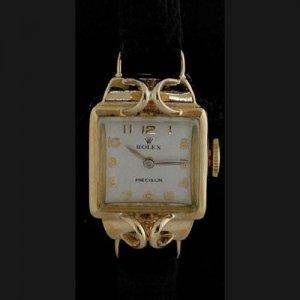 ロレックス スクエア イエローゴールド 金時計 レディース アンティーク