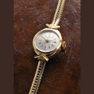 チュードル ブレス一体型 金時計 レディース アンティーク