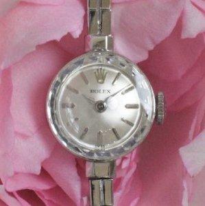 ロレックス ROLEX ホワイトゴールド ブレスウオッチ レディースアンティーク時計