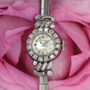 ロレックス ROLEX  18金ダイヤウオッチ レディースアンティーク時計