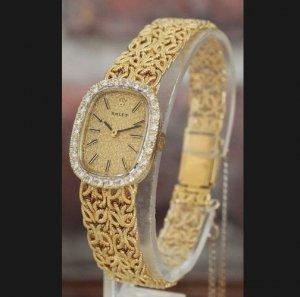 ロレックス ROLEX  ダイヤ取り巻きベゼル ラグジュアリー レディースアンティーク時計
