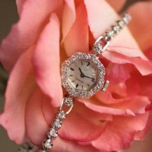 オメガ オクタゴン ダイヤモンド腕時計 レディースアンティーク OMEGA