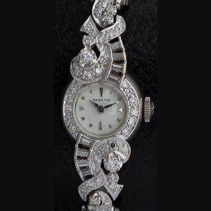 ハミルトン ラグジュアリー ダイヤブレス時計 アンティーク
