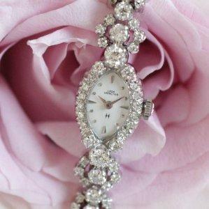 ハミルトン 花のラグ ダイヤブレス アンティーク