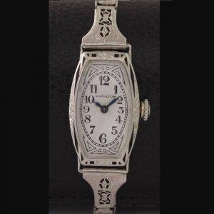 ハミルトン アールデコ時計 レディースアンティーク