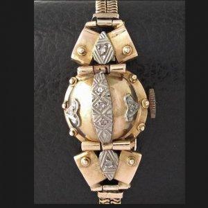 フランス製  カバーウオッチ 18金 ピンクゴールド ダイヤモンド