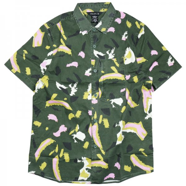 TREETOP S/S WOVEN - Leaf Green