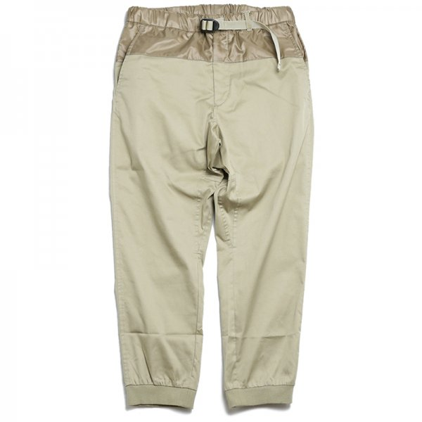 NOYKU / STRETCH CROPPED EASY PANTS - Beige
