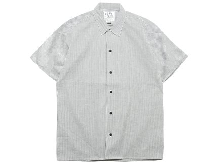 SUCKER STRIPE S/S SHIRT - Black/Stone