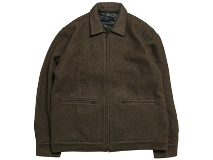BOILDED WOOL HARRINGTON  - Brown