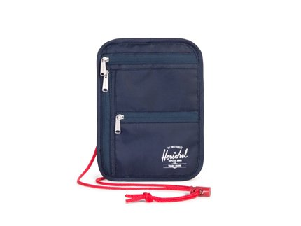 TRAVEL / MONEY POUCH - Navy/Red, Black