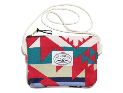 POLeR × PENDLETON WOOL POUCH - Red