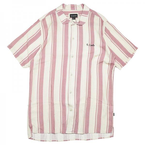 HOLIDAY CAMP-COLLAR SHIRT - Rose Stripe