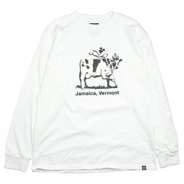 JAMAICA COW L/S TEE - White