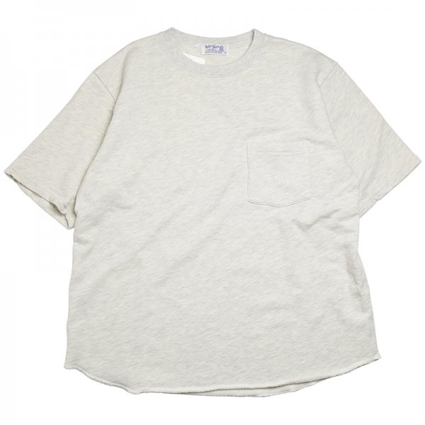 STKY BIG CREWNECK S/S POCKET TEE - Oatmeal