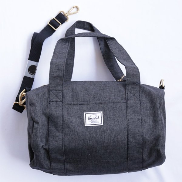 Sutton Duffle Mini - Black Crosshatch