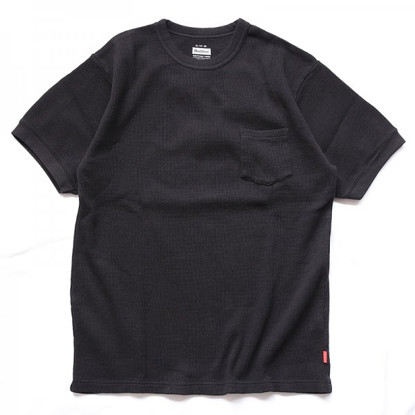 HEALTHKNIT | FUNCTIONAL FABRIC WAFFLE CREWNECK POCKET T-SHIRT - Black<img class='new_mark_img2' src='https://img.shop-pro.jp/img/new/icons56.gif' style='border:none;display:inline;margin:0px;padding:0px;width:auto;' />