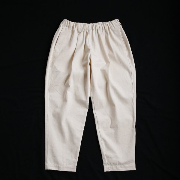 TAPERED EASY PANTS - Vanilla
