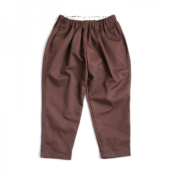 TAPERED EASY PANTS - Chocolate
