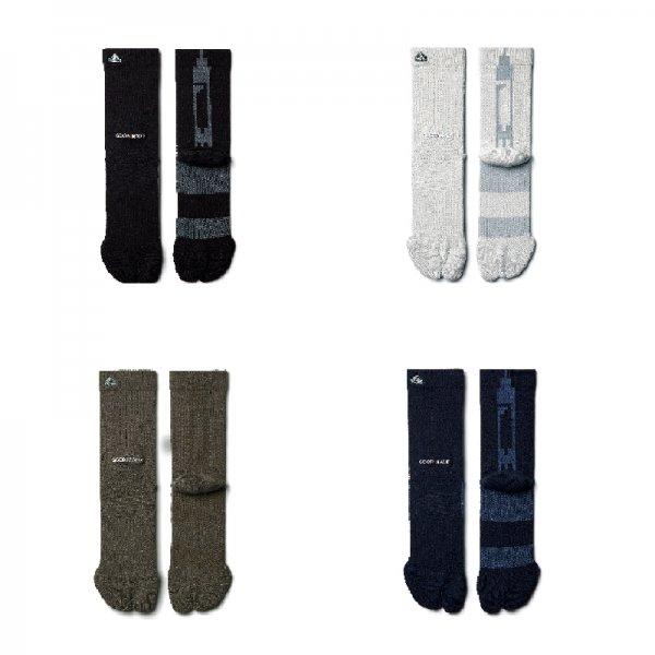 """ES-01"" GM TABI SOCKS - Black,Taupe Gray,Khaki,Navy"