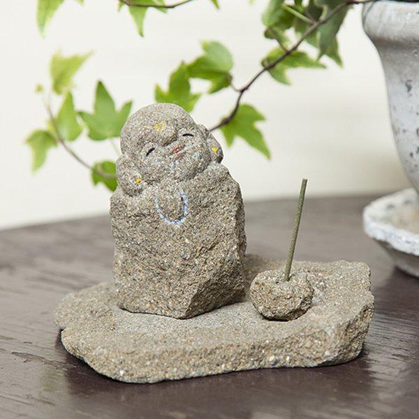 出雲石(来待石)のお地蔵さん お香立て(お線香立て)