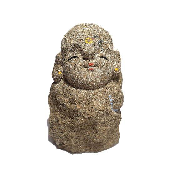 出雲石(来待石)のわらべ地蔵2寸5分(プレート付)