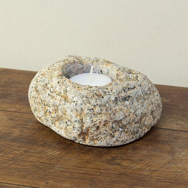自然石キャンドルホルダー1