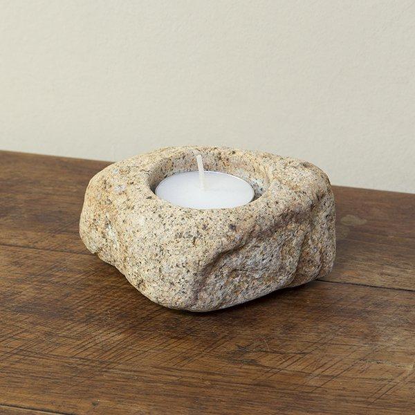 自然石キャンドルホルダー3