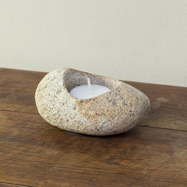 自然石キャンドルホルダー5