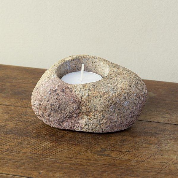 自然石キャンドルホルダー6