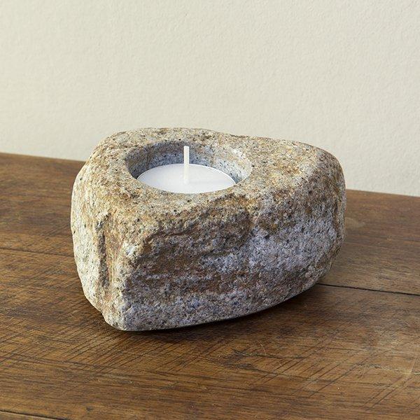 自然石キャンドルホルダー11