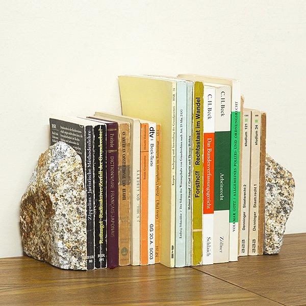 自然石ブックエンド1