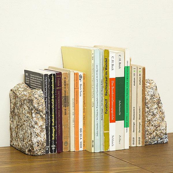 自然石ブックエンド3
